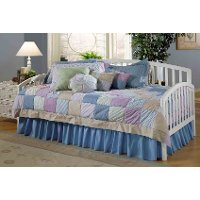 1109DBLHTR White Twin Daybed with Roll Out Trundle - Carolina