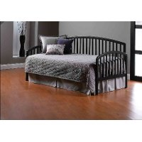 1592DBLHTR Black Twin Daybed with Roll Out Trundle - Carolina