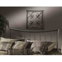 1333HFQR Pewter Queen Metal Headboard - Edgewood