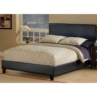 1610BQR Black Queen Platform Bed - Harbortown