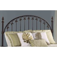 1038HFQR Brushed Bronze Queen Metal Headboard - Kirkwell