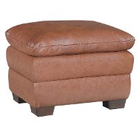 Arlington Chestnut Leather Ottoman Rc Willey Furniture Store