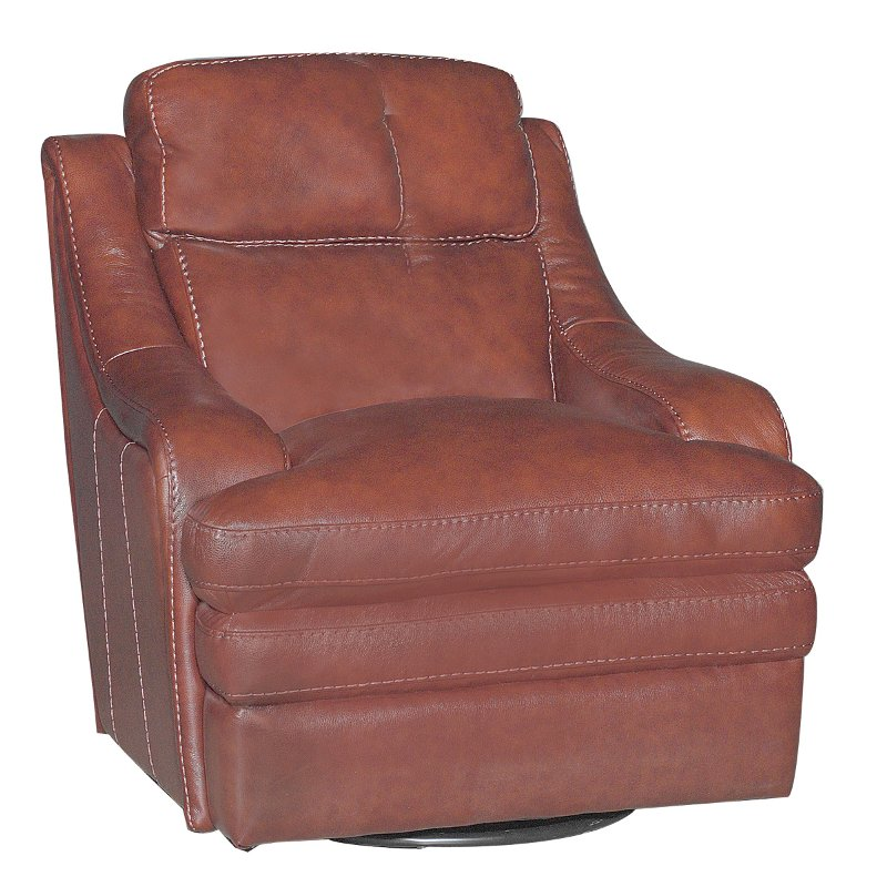 38 inch brown leather match swivel chair rcwilley image1~800