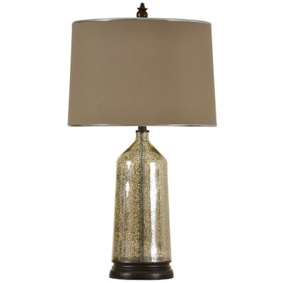 Tan Mercury Glass Table Lamp