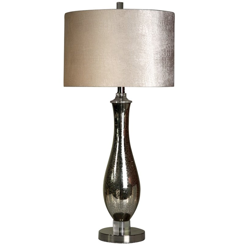 Steel and Mercury Glass Table Lamp