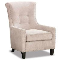 Classic Taupe Modern Accent Chair - Acacia