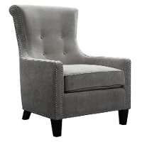 Mercury Gray Modern Accent Chair - Acacia