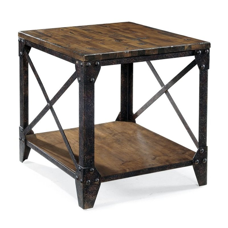 Delicieux Rustic Pine End Table   Pinebrook
