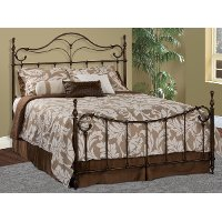 1249METALBED46 Pewter Full Metal Bed - Bennett