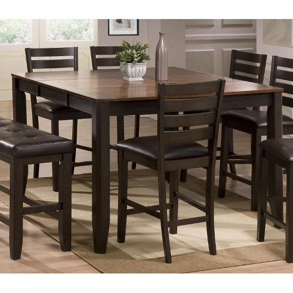 Clearance Brown Counter Height Dining Table Elliott