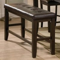 Brown Upholstered Counter Height Dining Bench - Elliott Collection