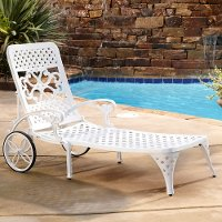 Whtie Chaise Outdoor Lounge Chair - Biscayne