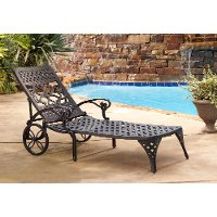 Black Chaise Outdoor Lounge Chair - Biscayne