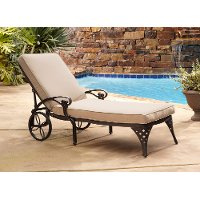 Bronze Chaise Outdoor Lounge Chair with Taupe Cushion - Biscayne