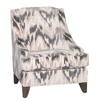 Modern Latte & Charcoal Gray Accent Chair - Spartan