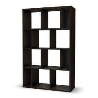 5159730 Chocolate Shelving Unit with 12 Compartments - Reveal