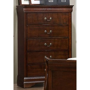 Traditional Brown Cherry Chest Of Drawers Mayville