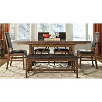 Brandy 5 Piece Dining Set with Upholstered Chairs - Santa Clara