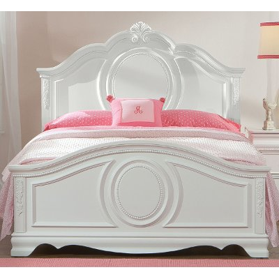 white twin bed. White Traditional Twin Bed - Jessica