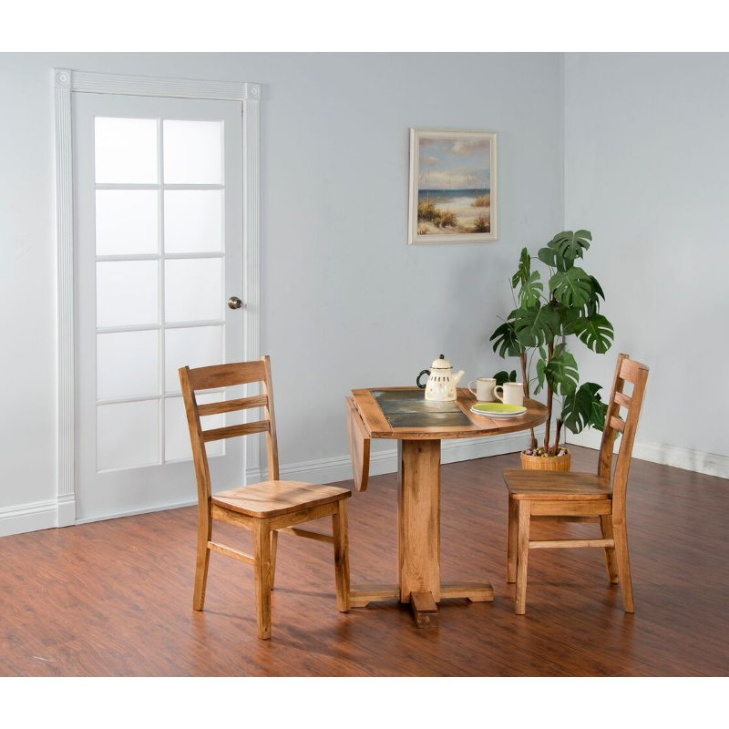 Drop Leaf Round Dining Table - Sedona