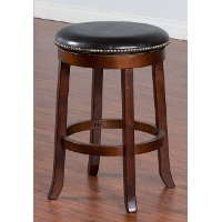 Swivel Counter Height Stool (24 Inch) - Cappuccino