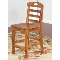 Ladderback Counter Height Stool (24 Inch)  - Sedona