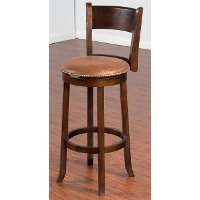 Brown 30 Inch Swivel Bar Stool - Santa Fe