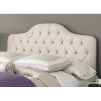B72123 Martinique Ivory Upholstered Twin Headboard