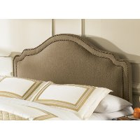B72113 Brown Sugar Upholstered Twin Headboard - Versailles