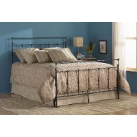 B4115-3 Mahogany Gold Twin Metal Bed - Winslow