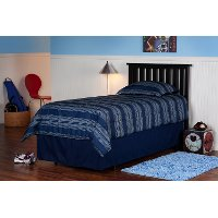 51B523 Black Slatted Twin Headboard - Belmont