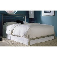 B4183-4 Satin Full Metal Bed - Chatham