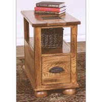 Rustic Narrow Brown End Table - Sedona