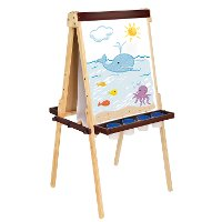Guidecraft Wooden Floor Easel - Art Equipment