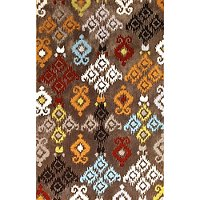8 x 10 Large Brown Area Rug - Trio