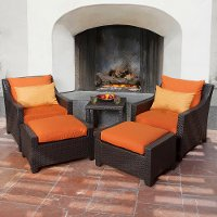 OP-PECLB5-TKA-K Tikka Orange 5 Piece Wicker Club Chair Set
