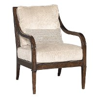 Classics 27 Inch Wood Accent Chair