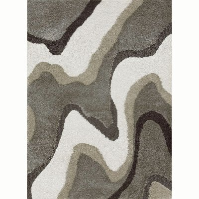 50a673c36a4 5 x 8 Medium Slate Gray and Taupe Area Rug - Wild Weave