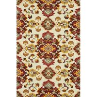 8 x 11 Large Transitional Red Area Rug - Mayfield
