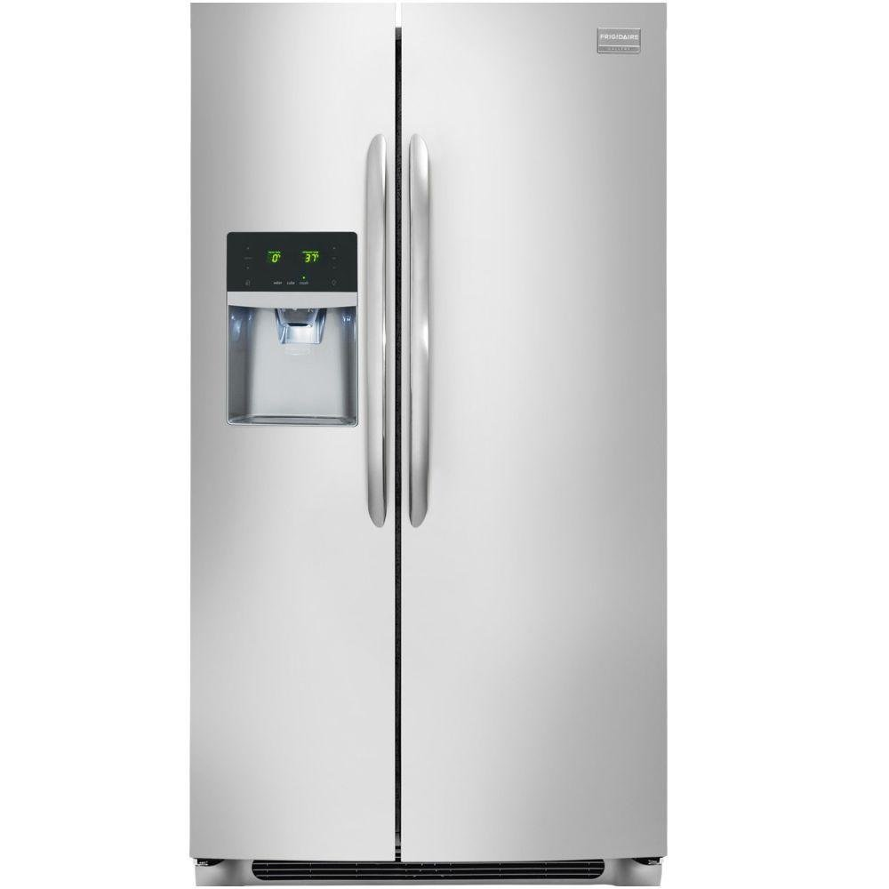 Ge 30 inch side by side white refrigerator - Frigidaire 36 Inch Side By Side Refrigerator Stainless Steelfghs2655pf134999 Fghc2331pf Frigidaire 36 Inch Stainless Steel 23 Cu Ft