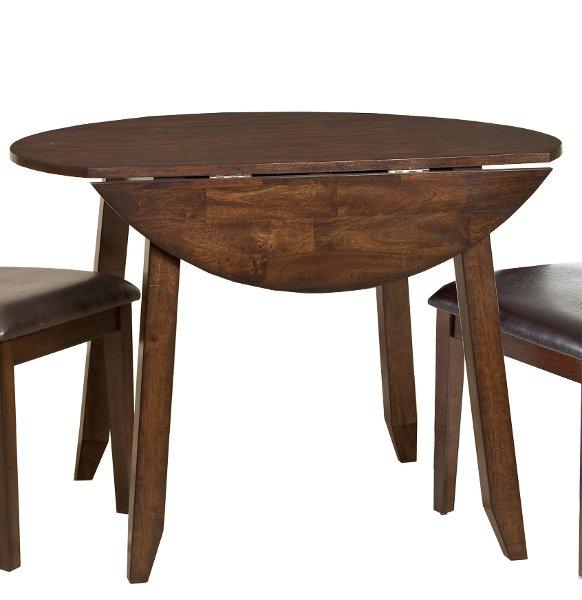 ... Raisin 42 Inch Drop Leaf Round Dining Table   Kona
