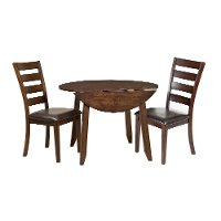 Raisin 3 Piece Round Dining Set - Kona