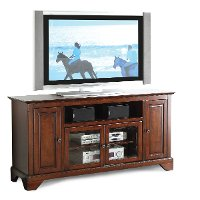60 Inch Cherry Brown TV Stand - River City