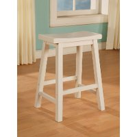 White Counter Height Stool - Color Story