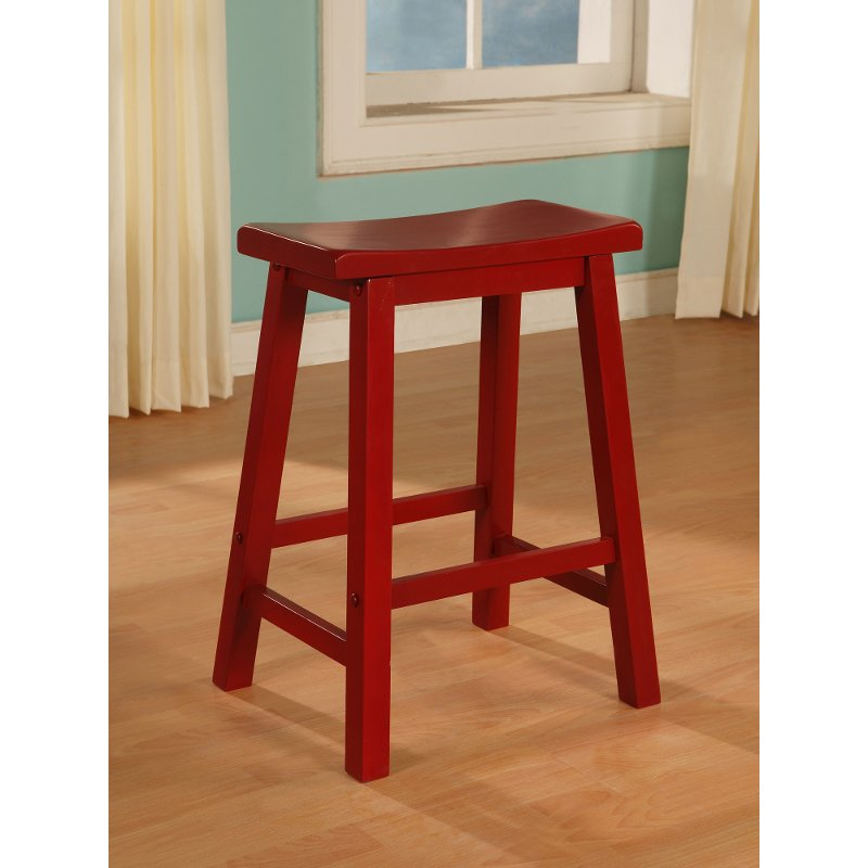 Crimson Red Counter Height Stool   Color Story