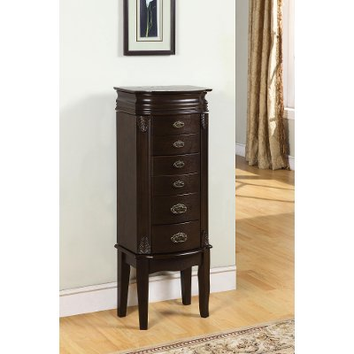 Italian Influenced Transitional Jewelry Armoire RC Willey