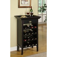 Black Merlot Rub through Wine Cabinet