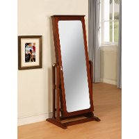 Marquis Cherry Jewelry Wardrobe Mirror - Cheval