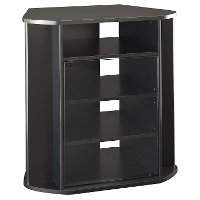 Sleek Black Tall 30 Inch Corner Tv Stand Visions Rc Willey