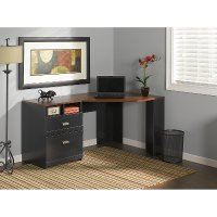 Black/Cherry Corner Desk - Wheaton